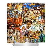 Audience With The Geniuses Of Art Shower Curtain