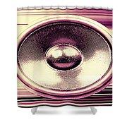 Audio Banner Shower Curtain