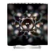 Audio Dark Shower Curtain