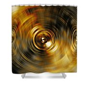 Audio Gold Shower Curtain