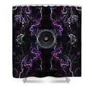 Audio Purple Neon Shower Curtain