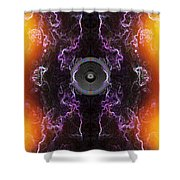 Audio Purple Orange Shower Curtain