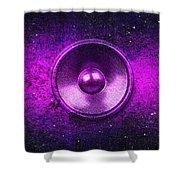 Audio Purple Shower Curtain