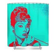 Audrey Hepburn 20130330v2p128 Square Shower Curtain
