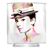 Audrey Hepburn 6 Shower Curtain