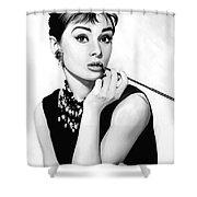 Audrey Hepburn Artwork Shower Curtain