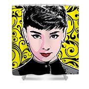 Audrey Hepburn Pop Art Shower Curtain