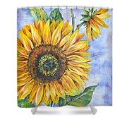 Audrey's Sunflower Shower Curtain