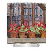 August At The Auberge  Shower Curtain