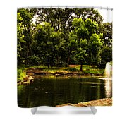 August By The Fountain Shower Curtain