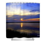 August Sunset Reflection Shower Curtain