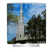Augustinian Cemetery And Church Shower Curtain