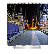 Auke Bay By Night Shower Curtain