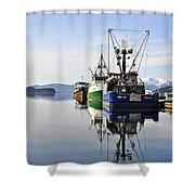 Auke Bay Reflection Shower Curtain