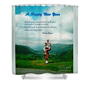 Auld Lang Syne Shower Curtain