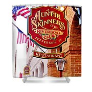 Auntie Skinner's  Riverboat  Club Shower Curtain