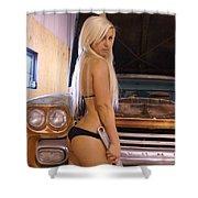 Auriel Farm Truck Shower Curtain