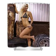 Auriel Rusty Rat Rod 1 Shower Curtain