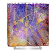 Aurora Aperture - Square Version Shower Curtain