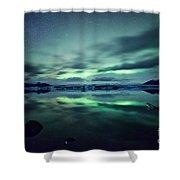 Aurora Borealis Over Lake Shower Curtain