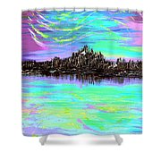 Aurora Borealis Poster Shower Curtain