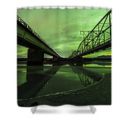Aurora Bridge Shower Curtain