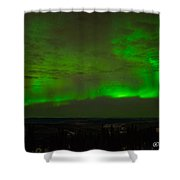 Aurora Flare With Clouds Shower Curtain
