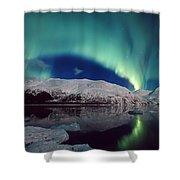 Aurora Over Portage Shower Curtain