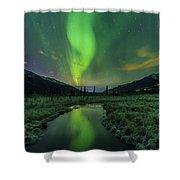 Aurora Valley Shower Curtain