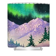 Aurora Winter In Square Shower Curtain