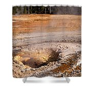 Aurum Geyser In Upper Geyser Basin In Yellowstone National Park Shower Curtain
