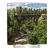 Ausable Chasm Bridge Shower Curtain
