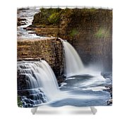 Ausable Chasm Waterfall Shower Curtain