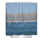 Auspicious Wind Shower Curtain