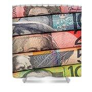 Aussie Dollars 01 Shower Curtain