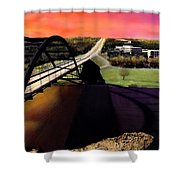 Austin 360 Bridge Shower Curtain