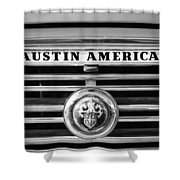 Austin America Grille Emblem -0304bw Shower Curtain