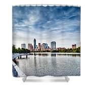 Austin Boardwalk View On Lake Shower Curtain
