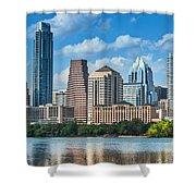 Austin Daytime Skyline Shower Curtain