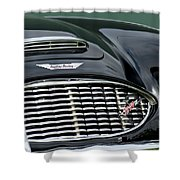 Austin-healey 3000 Grille Emblem Shower Curtain by Jill Reger