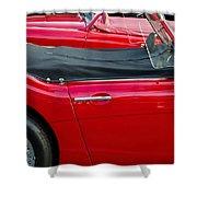 Austin Healey Red Shower Curtain