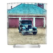 Austin Seven Watercolor Shower Curtain