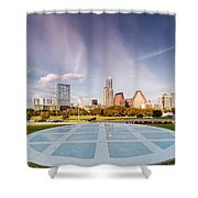 Austin Skyline From The Longs Center For The Performing Arts Shower Curtain