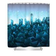 Austin Skyline Geometry 3 Shower Curtain