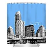 Austin Skyline - Sky Blue Shower Curtain