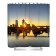 Austin Sunrise Shower Curtain
