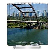 Austin Texas 360 Bridge Vert Shower Curtain