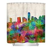 Austin Texas Abstract Panorama 4 Shower Curtain