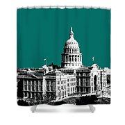 Austin Texas Capital - Sea Green Shower Curtain