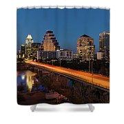 Austin, Texas Cityscape Evening Skyline Shower Curtain